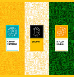 line bitcoin patterns set vector image