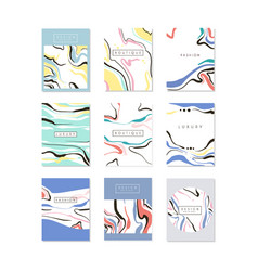 luxury business cards design with colorful hand vector image