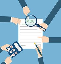 memorandum of understanding MOU vector image