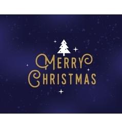Merry Christmas typographic emblems set vector