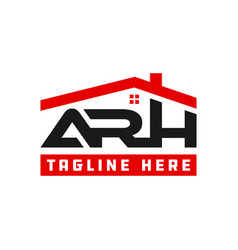 Modern home logo with arh letters vector