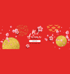 modern mid autumn festival sale template banner vector image