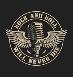 On theme rock and roll vector