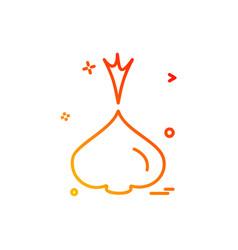 onion icon design vector image