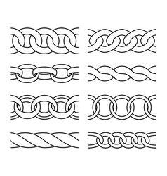 Outline chain patterns vector