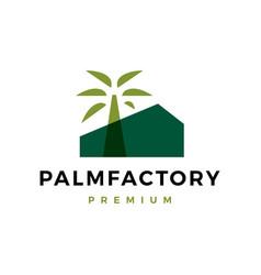 Palm factory logo icon vector