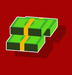 Paper sticker on theme arabic business bundles vector