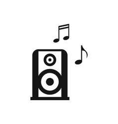 Portable music speacker icon simple style vector