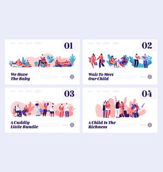 pregnancy and family waiting bawebsite landing vector image