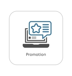 Promotion Icon Flat Design vector image