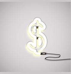 realistic neon character vector image
