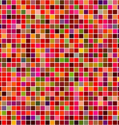 Red colored mosaic square pattern background vector