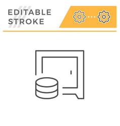 safe editable stroke line icon vector image