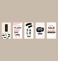 sale social media stories banners set vector image