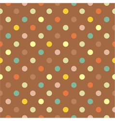 Seamless colorful polka dots autumn pattern vector