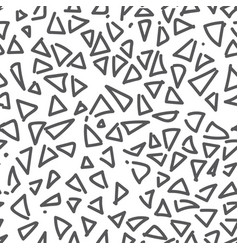 Seamless pattern of monochrome geometric vector