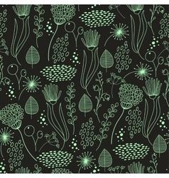 Seamless pattern vintage floral elements vector