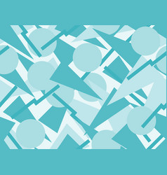 seamless pattern with triangles and circles vector image vector image