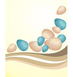 Seashells background vector image