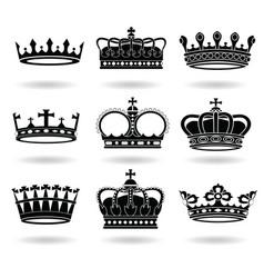 Set crowns vector