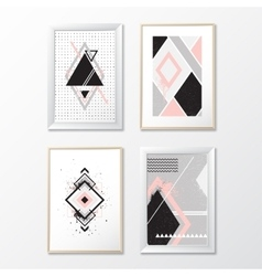 Set frames with geometric pictures vector image vector image