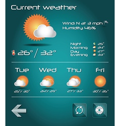Set of weather icons for web and mobile vector