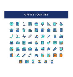 set office icon with filled outline style vector image