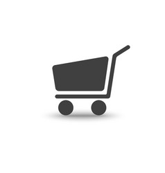 Shopping cart icon with soft shadow vector