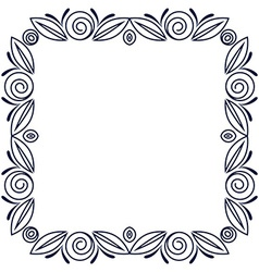 Simple frame with roses flowers vector image
