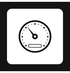 Speedometer measuring scale icon vector image