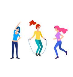 sport women flat vector image