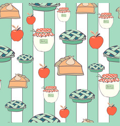 Striped table cover for thanksgiving repeat vector