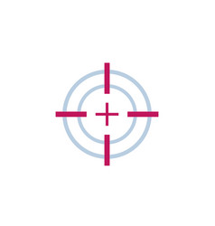 target aim or crosshair icon vector image