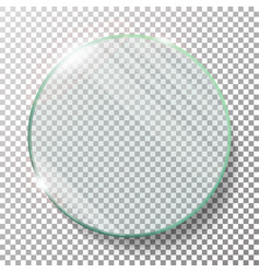 Transparent round circle realistic vector