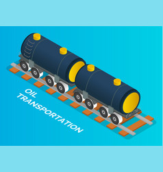 transportation oil in train railway carriage vector image