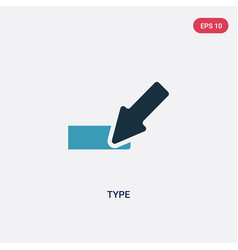 Two color type icon from orientation concept vector
