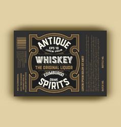vintage western label retro vector image
