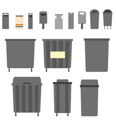 waste can garbage types container bin vector image