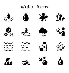 Water liquid aqua icon set graphic design vector