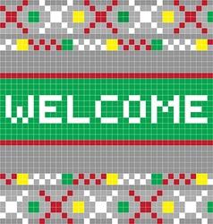 welcome pixel model vector image