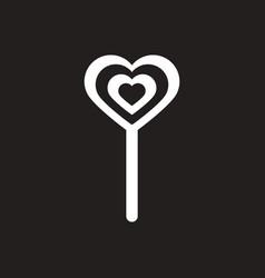 White icon on black background bonbon candy vector