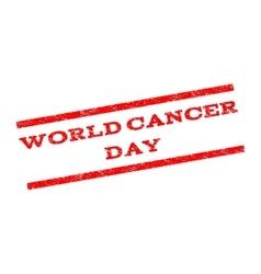 World Cancer Day Watermark Stamp vector