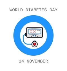 World Diabetes Day Medical flat icons vector image