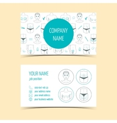 Business cards for plastic surgery clinic vector image