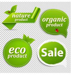 green set eco tags vector image vector image