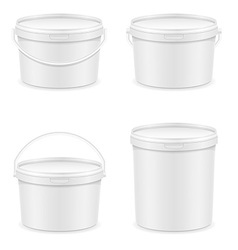 plastic bucket for paint 04 vector image vector image