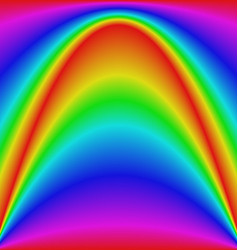 Smooth gradient rainbow wave curve background vector image vector image