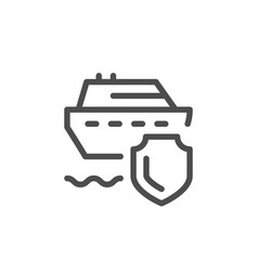 travel insurance line icon vector image