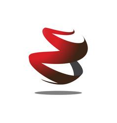 abstract logo shape vector image