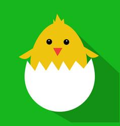 cute yellow cartoon baby chicken vector image